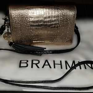 Brahmin Reya Crossbody purse with extra flap.